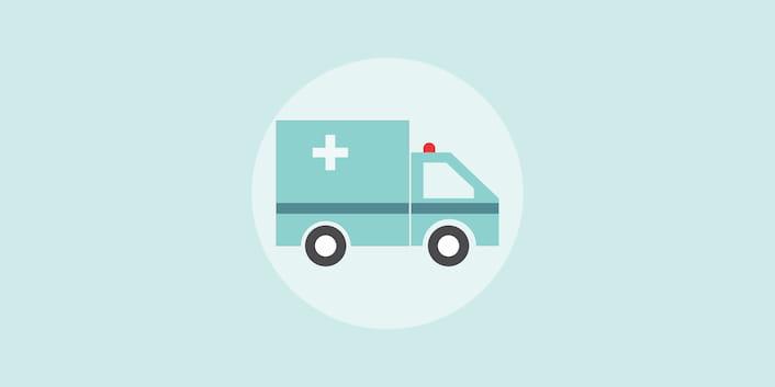 Ambulanz Arzt Klink Aufnahme Krankenwagen