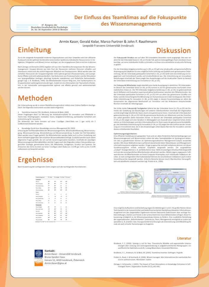 Präsentation Deutsche Gesellschaft Psychologie mit Prof. Marco Furtner (Liechtenstein)
