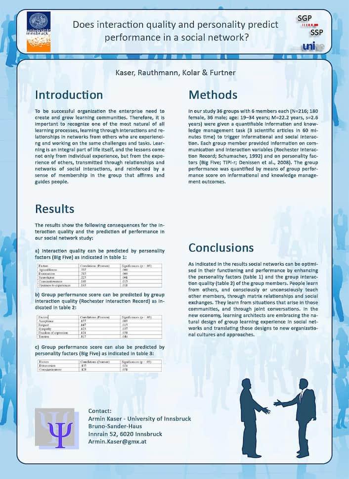 Präsentation Schweizer Gesellschaft Psychologie mit Prof. John Rauthmann (Universität Lübeck)