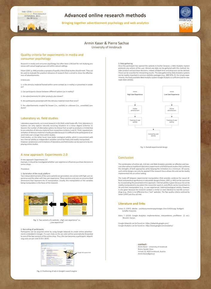 Präsentation zu Methoden der Online-Forschung mit Prof. Pierre Sachse, Allgemeine Psychologie