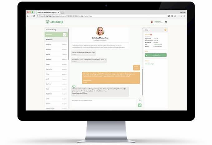Instahelp Video-Chat-Tool-Psychologen